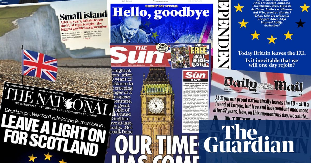 Leap into the unknown: what the papers say about Brexit day