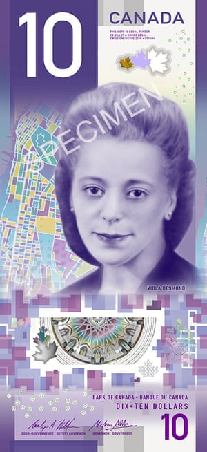 The new Canadian $10 bank note.