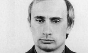 Vladimir Putin pictured in 1980, when he was serving in the KGB.