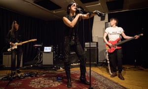 Wild Daughter at their rehearsal studios in London.