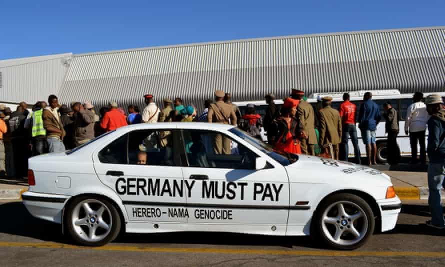 Activists await the return of skulls of Herero and Nama people killed under German colonial rule, Windhoek, 2011