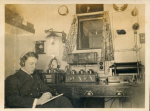 Alec Bagot, the wireless operator on the Olympic, which carried the parcel to New York for delivery to the Titanic.