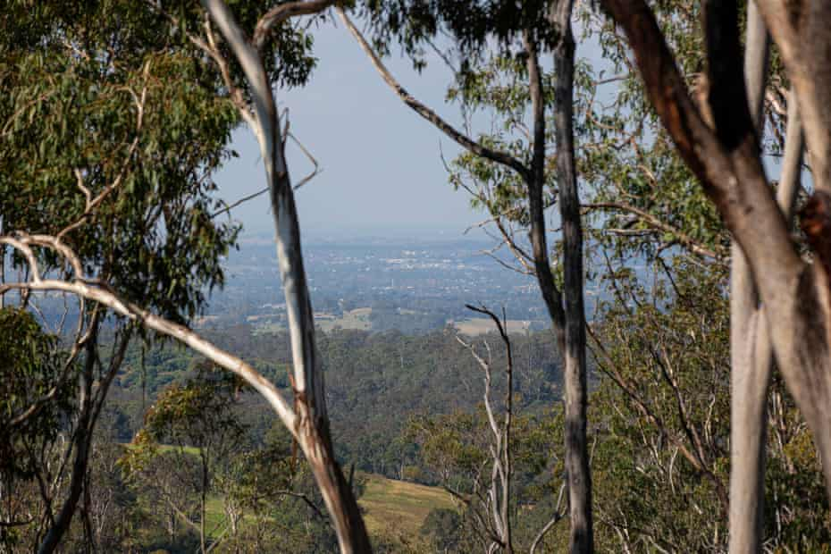 Views of Glenmore, NSW, in the direction of Hardwicke property.
