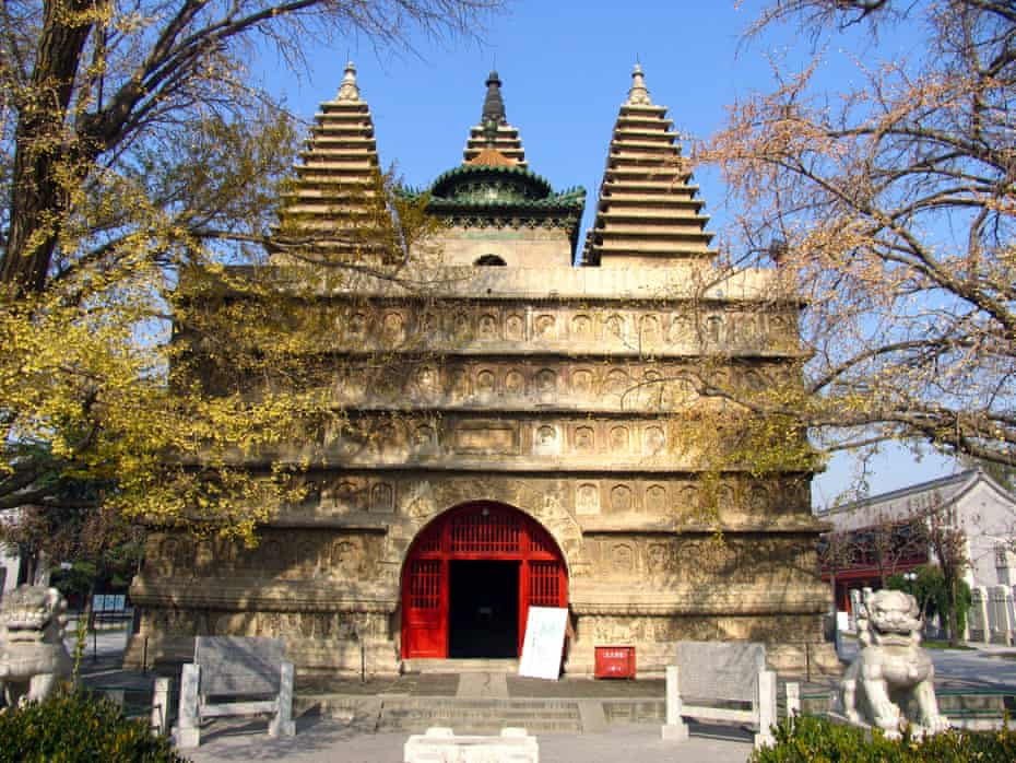 The Five Pagoda Temple in Beijing was a ruin in the 1980s. It has since been renovated.