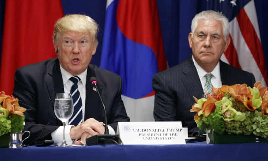 Trump's tense relationship with Tillerson burst into view last week.