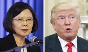 Tsai Ing-wen and Donald Trump.