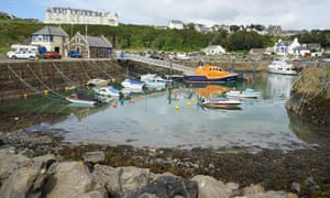 Portpatrick harbour in Dumfries and Galloway, which was bought by the local community.