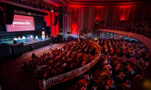 A Momentum event at The Troxy in 2016.