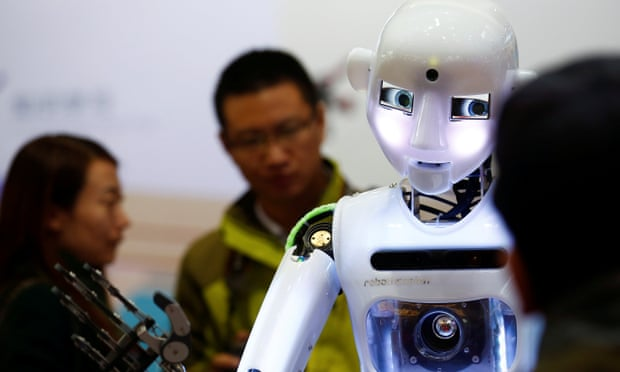 'I'm very clever' … RoboThespian humanoid robot. Photograph:Reuters/Thomas