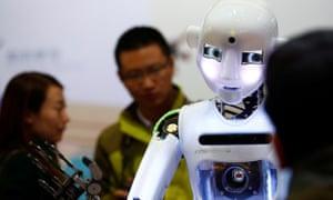 'I'm very clever' … RoboThespian humanoid robot. Photograph: Reuters/Thomas