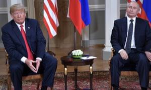 Presidents Trump and Putin in Helsinki in July