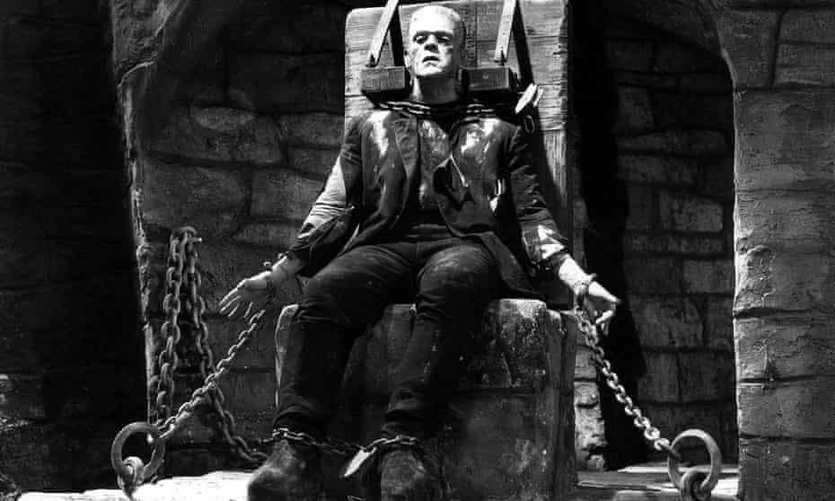 Karloff in The Bride of Frankenstein.