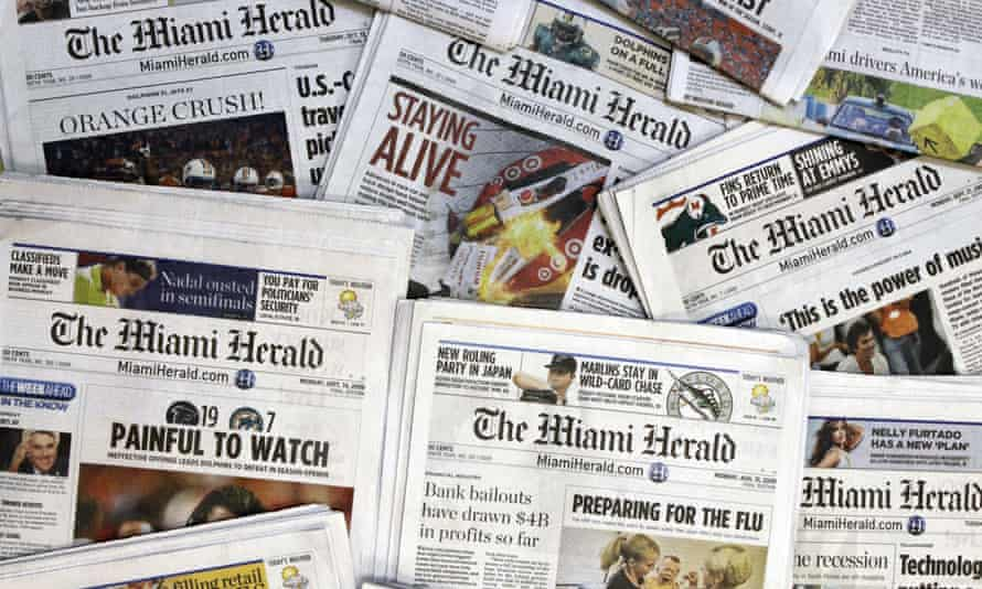 The Miami Herald, owned by McClatchy. Extreme downsizing has increasingly left cities, towns, and rural communities without local news.
