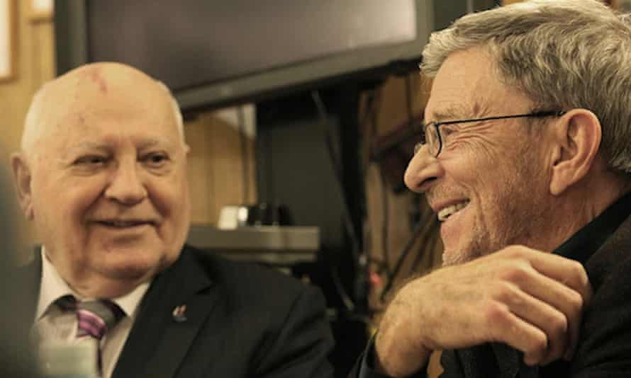 Stephen Cohen, right, with Mikhail Gorbachev. 'He loved Russia, the Russian intelligentsia and believed in our country's future,' the former Soviet president said as part of a tribute to Cohen.