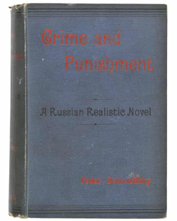 The English first edition of Crime and Punishment sold for £14,000.