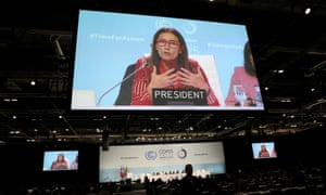 Carolina Schmidt, COP25 president and Chile's minister of environment, speaks in Madrid.