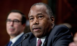 Ben Carson, secretary of housing and urban development, whose department has proposed the rule change.