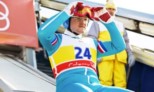 Taron Egerton as Eddie the Eagle, in a story of great British pluck.