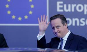 David Cameron at an EU summit in Brussels, Belgium, in 2016