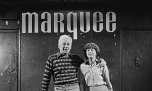 Harold Pendleton and his business partner and wife, Barbara, at the Marquee Club in Wardour Street, London, 1983.
