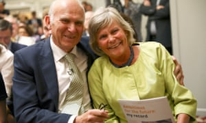 Vince Cable and his wife Rachel Smith