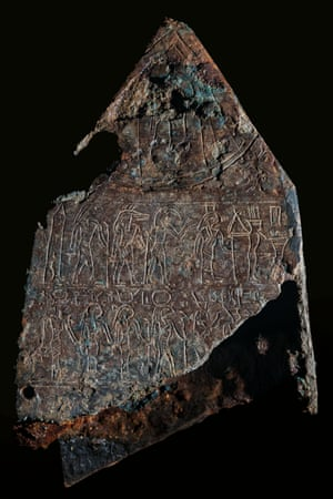 Bronze hieroglyphic inscription to Amasis II from Thonis-Heracleion.