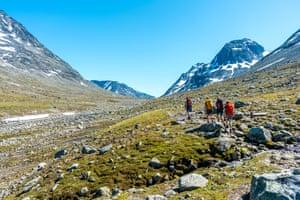 Walking in Norway's Svartdalen valley.