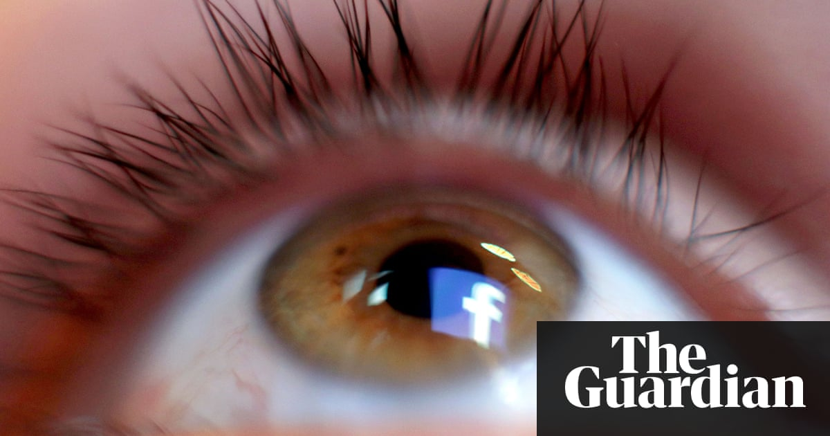 Is facebook for old people over 55s flock in as the young leave a facebook logo reflected in the human eye altavistaventures Gallery