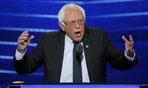 Bernie Sanders speaks at the Democratic National Convention in Philadelphia in September 2016.