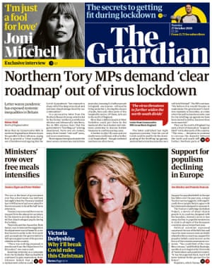 Guardian front page, Tuesday 27 October 2020