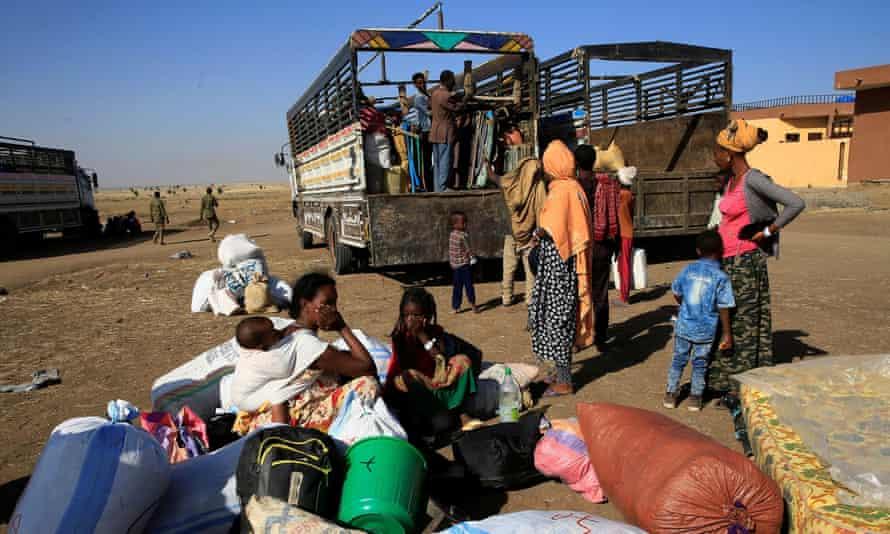 Ethiopian refugees in Sudan after fleeing fighting in Tigray.