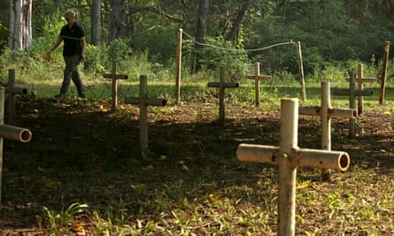The grounds of the Boot Hill cemetery at the Dozier school. Ground penetrating radar shows 19 possible burial sites that are unmarked.