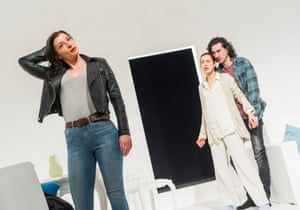 Frances McNamee as Elodie with McKee and Postlewaithe in The Mother.