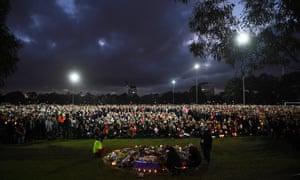 Vigil for Eurydice Dixon at Princes Park, Melbourne