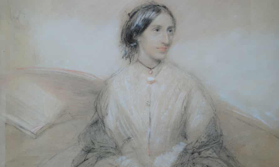 The pastel sketch is thought to show Mary Ann Evans aged 25.