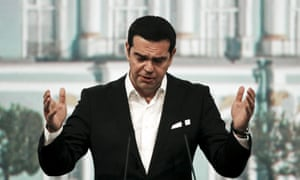 St. Petersburg, Russia Greek Prime Minister Alexis Tsipras speaks during a session of the St. Petersburg International Economic Forum. 'Greece's debt crisis is a problem for all of Europe and the European Union faces a choice between showing solidarity with Greece or sticking to austerity policies that lead nowhere' Tsipras said