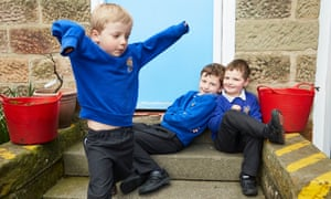 Elton pupils in playground