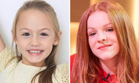 Amelie Bea Smith, who says taking over as the voice of Peppa Pig is a 'dream come true', and Harley Bird, who has voiced the character for 13 years.