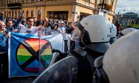 Clashes at a pride parade in Lublin, Poland
