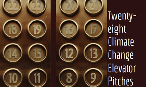 28 Climate Change Elevator Pitches book cover
