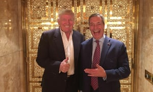 Nigel Farage with Donald Trump