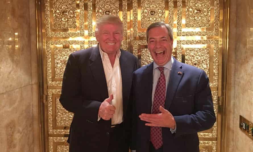 Nigel Farage with Donald Trump