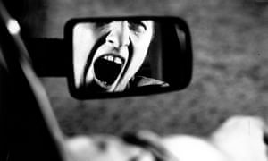 stressed motorist, man shouting