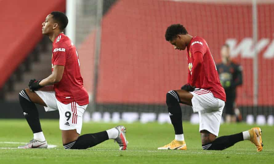 Manchester United's Anthony Martial (left) and Marcus Rashford are among the players who have been sent racist messages.