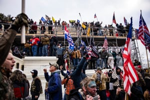 Pro-Trump supporters storm the US Capitol.