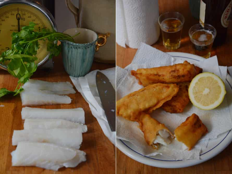 Rachel Roddy's Filetti di baccalà fritti (battered salt cod).