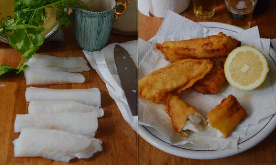 Rachel Roddy's recipe for battered salt cod.