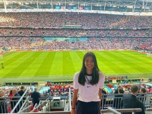 Raducanu at Wembley during the Euro 2020 Championships