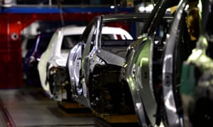 The Mercedes-Benz assembly line in Bremen, Germany.