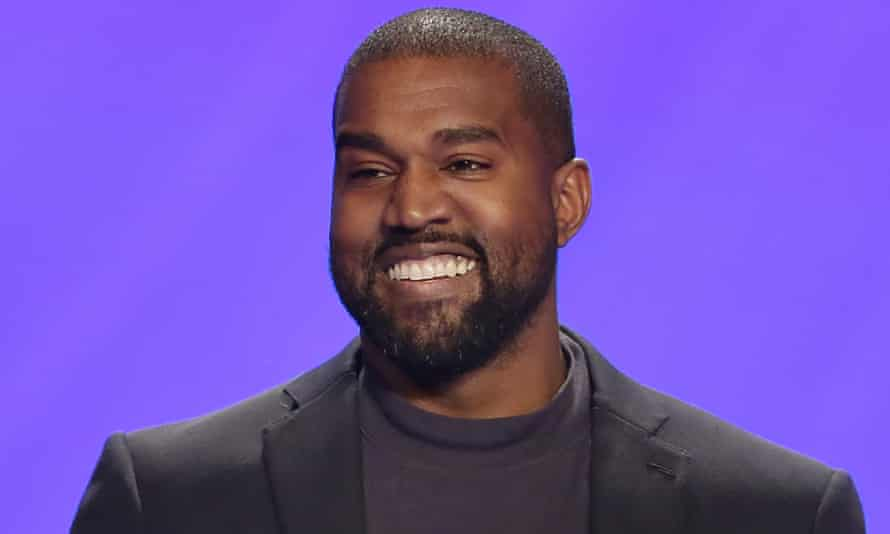 Kanye West on stage during a service at Lakewood church in Houston, on 17 November 2019.